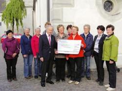 Spendenübergabe an den Freundeskreis Martinskirche